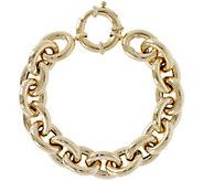 Arte dOro 6-3/4 Bold Oval Rolo Link Bracelet,18K 26.2g - J345621