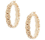 14K Gold Byzantine 1 Hoop Earrings - J355621