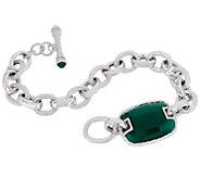 Judith Ripka Verona Sterling Silver Gemstone Toggle Bracelet - J356721