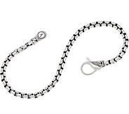 JAI Sterling Silver 3.7mm Box Chain Bracelet - J359621