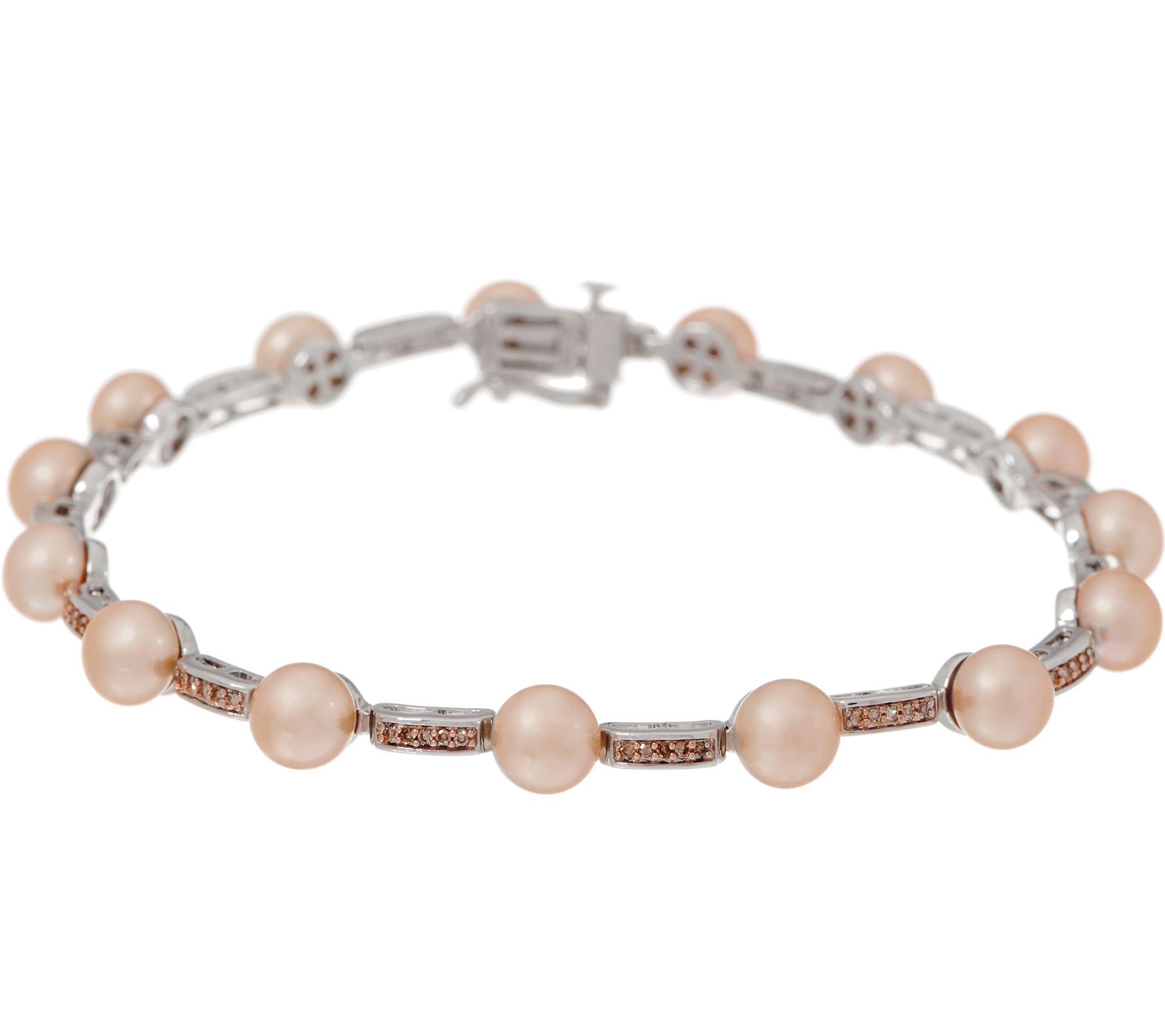 Honora Cultured champagne couleur perles stretch bracelet 6.5 mm