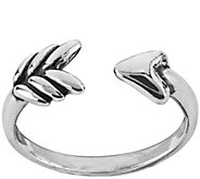 American West Sterling Silver Adjustable ArrowRing - J375521