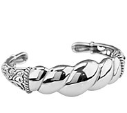 Carolyn Pollack Sterling Signature Polished Cuff Bracelet - J384121