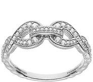 Judith Ripka Sterling Silver Swirl Diamonique Ring - J385421