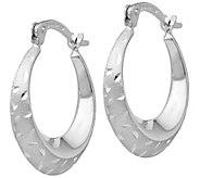 14K White Gold Graduated Hoop Earrings - J385621