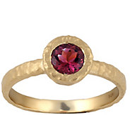 Adi Paz Satin Finished Bezel Set Pink Tourmaline Ring, 14K - J389621