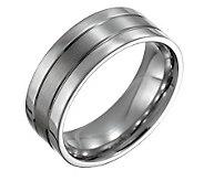 Steel By Design Mens 8mm Flat Satin PolishedRing - J109522