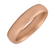 Simply Stacks Sterling 18K Rose Gold-Plated 4.25mm Satin Ring - J298122