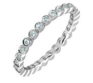 Simply Stacks Sterling Aquamarine Eternity Stackable Ring - J298622