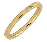 Simply Stacks Sterling 18K Yellow Gold-Plated 2.25mm Flat Ring - J298922
