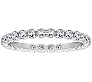 Diamonique 4/10 cttw Eternity Band Ring, Platinum Clad - J309722