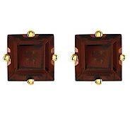 Square Princess-Cut Gemstone Stud Earrings, 14KGold - J314022