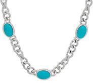 Judith Ripka Verona 18 Gemstone Necklace Sterling 62.0g - J349222