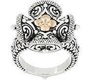 Barbara Bixby Sterling Silver & 18K Gold Cross Ring - J353922