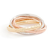 Italian Gold Tri-color Rolling Rings, 14K Gold - J355722