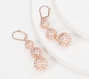 Sterling Silver Diamond Cut Lace Bead Drop Earrings by Silver Style - J361022