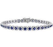 14K Gold 4.80 cttw Sapphire Tennis Bracelet - J392122