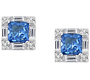 Epiphany Diamonique 2.15 cttw Princess Cut Earrings - J303923