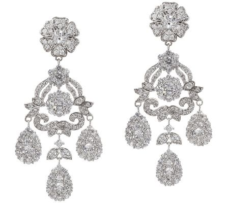 The Elizabeth Taylor 12 40 Cttw Simulated Diamond Earring Page 1 Qvc