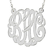 Sterling 7/8 Personalized Script Monogram Necklace - J337623