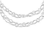 Sterling Fancy Oval & Round Link 42 Necklace,3/8W - J338823