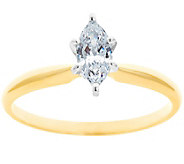 Solitaire Diamond Ring, 14K Gold 1/4 cttw, by Affinity - J341423