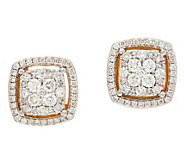 Cluster Diamond Cushion Stud Earrings, 14K, 6/10 cttw, by Affinity - J348123