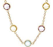 Arte d Oro 20 55.00 ct tw Multi-gemstone Necklace 18K, 13.0g - J348723