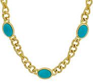Judith Ripka Verona 18 Gemstone Necklace 14K Clad 62.0g - J349223