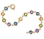 14K Gold and Gemstone 7-1/4 Bracelet, 12.40 cttw - J355123