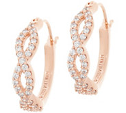 Diamonique 3/4 Infinity Design Hoop Earrings, Sterling Silver - J357523