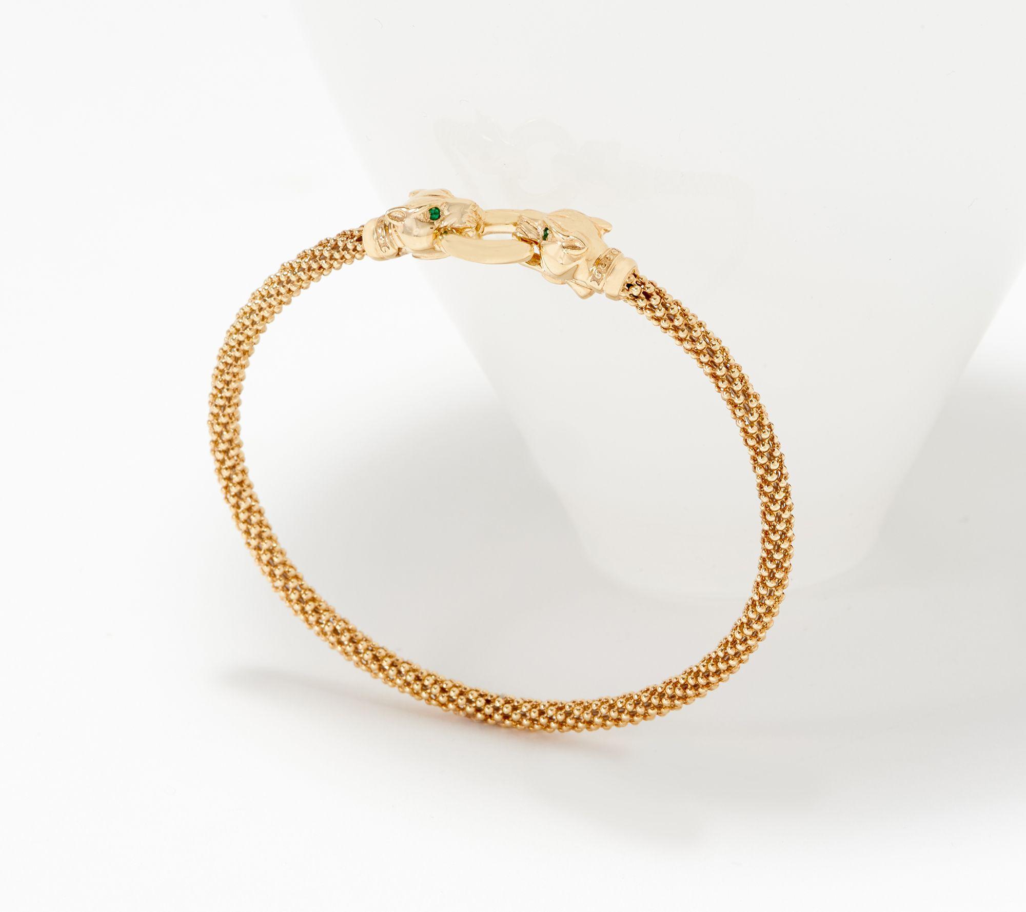 Panther Head Bracelet 14k Gold