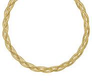 Italian Gold 18 Braided Mesh Necklace, 14K, 7.8g - J385023