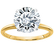Moissanite 3.10 cttw Round Solitaire Ring, 14KGold - J385923