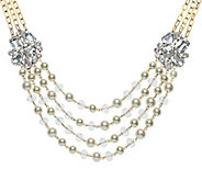 Linea by Louis DellOlio Crystal Bead Cluster Necklace - J390523