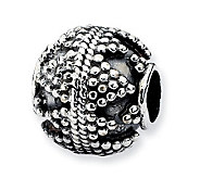 Prerogatives Sterling Studded Artisan Bead - J113324