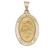 St. Anthony Oval Pendant, 14K Gold - J308124