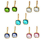 Joan Rivers Set of 5 Jewel Drop Lever Back Earrings - J327724