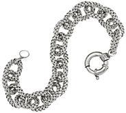 Italian Silver Woven Oval Link Bracelet, Sterling 18.3g - J346324