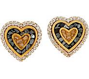 Shana Gulati 18K Clad Diamond Slice Cross or Heart Earrings - J347624