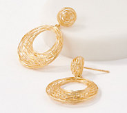 Adi Paz Circle Dangle Earrings 14K Gold - J348624