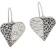 Or Paz Sterling Silver Heart Shaped Dangle Earrings - J350224