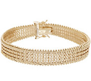 Imperial Gold 7-1/4 Wide Starlight Bracelet, 14K Gold, 23.0g - J352624