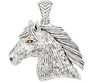 JAI Sterling Silver & Citrine Spirit Horse Enhancer, 26.1g - J359624
