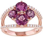 14K 2.5 cttw Pink Tourmaline & 1/5 cttw DiamondRing - J377324