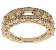 Judith Ripka 14K Gold Diamond Band Ring - J381424