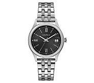 Caravelle Womens Stainless Textured Bracelet Watch - J383324