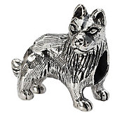 Prerogatives Sterling German Shepherd Bead - J299525