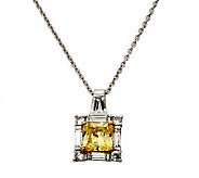 Diamonique 2.50 cttw Princess Cut Pendant,Platinum Clad - J303925
