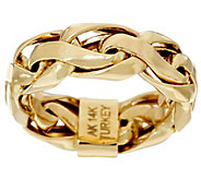 14K Gold Polished Bold Woven Wheat Band Ring - J330625